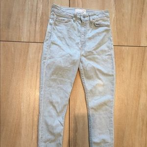 Light wash American apparel skinny jeans